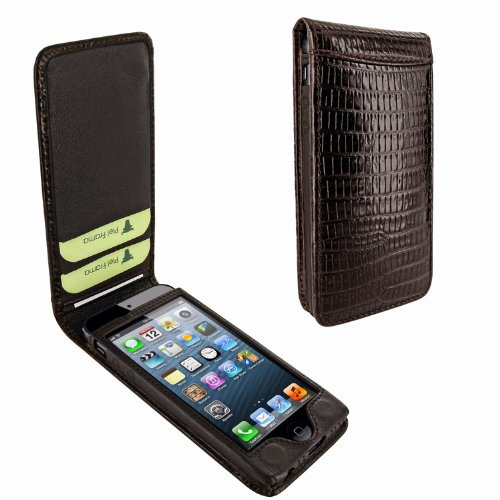 Best Price Apple iPhone 5 / 5S Piel Frama Brown Lizard Magnetic Leather Cover
