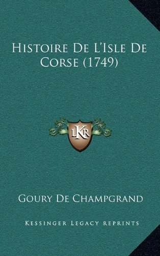Histoire de L'Isle de Corse (1749)