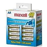 Paquete de 48 baterías Maxell LR6, tamaño AA.
