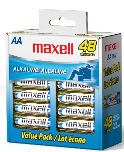 Maxell 723443 LR6 AA Cell 48 Pack Box Battery
