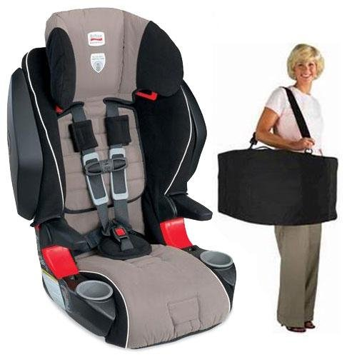 Britax  Frontier 85 SICT Combination Harness2Booster in Portabello with a car seat Travel Bag