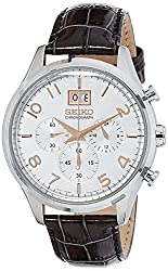 Seiko Dress Analog White Dial Mens Watch - SPC087P1