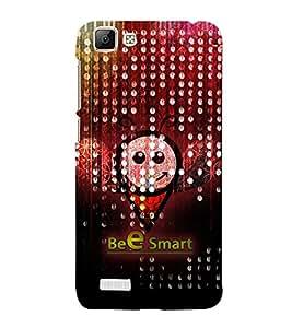 Bee Smart 3D Hard Polycarbonate Designer Back Case Cover for VIVO V1