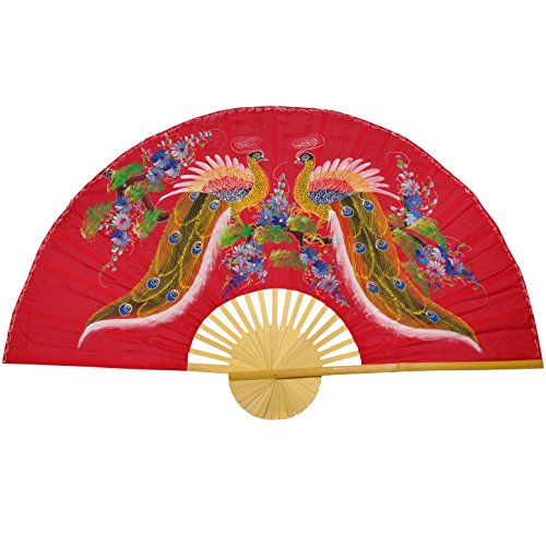 Oriental Furniture Wisdom of the Peacocks Fan - 40