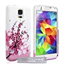 YouSave Accessories Coque en silicone pour Samsung Galaxy S5 Rose/Blanc