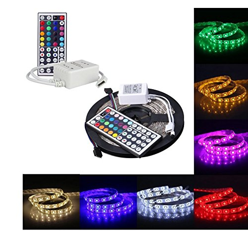 Generic 5M 16.4Ft RGB 5050SMD 300LED Waterproof Flexible LED Light Strip lamp + 44Key IR Remote (Supports Max 5 meters of RGB LED flexible strips)