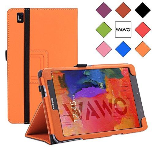 Wawo Creative Smart Cover Folio Case For Samsung Galaxy Tab Pro 8.4 Inch Tablet-Orange front-1014097