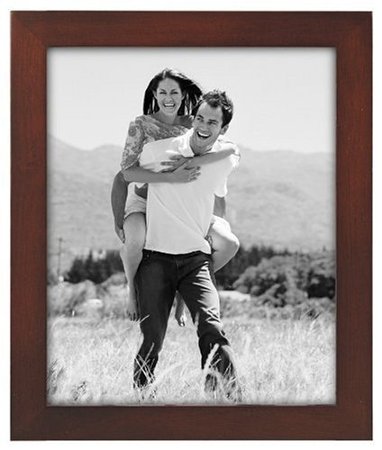 Malden Linear Wood 8-by-10-Inch Picture Frame, Walnut