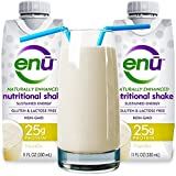 ENU protein shake / meal replacement drink. Tastes great! ($3 coupon on this page) 25g quality protein & 480 calories ensure muscle mass & maintains orgain weight. Naturally sweetened. Non-GMO. Gluten free. Ready to drink (12-pack / Vanilla)