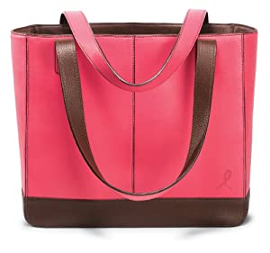 Day-Timer® 48420 Leather Tote for 2009, 11-1/2w x 10d x 4h, Pink