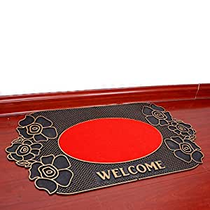 Ddl waterproof rubber mats door mats doormat for Door mats amazon