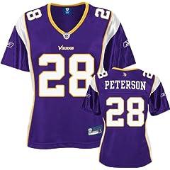 Reebok Minnesota Vikings Adrian Peterson Ladies Premier Jersey by Reebok