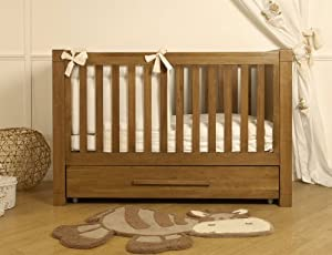 Moderno Oak Cot Bed Inc Simple Sleep Spring Mattress