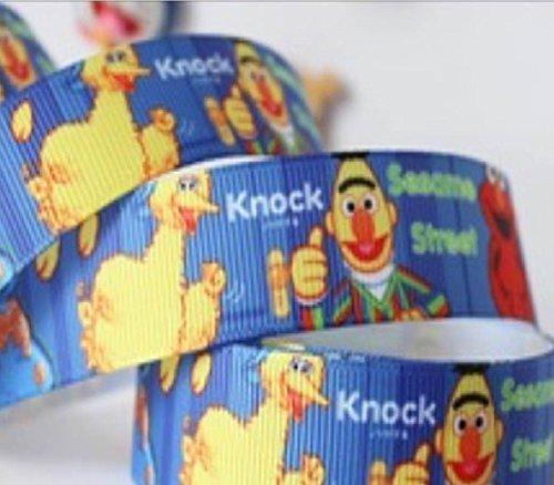 7 cm %2f 20,32 (8 22 mm, motivo: Elmo Sesame Street Big Bird and Burt, Cookie Monster grossgrain Nastro con motivo: con laccio, capelli crafts-Clip per ciuccio