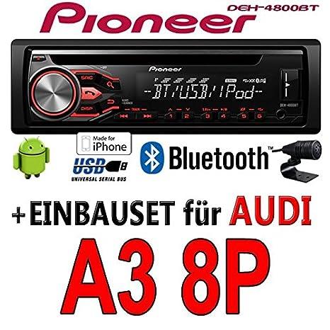 Audi a3 8P-pioneer dEH - 4800BT-cD/mP3/uSB avec kit de montage