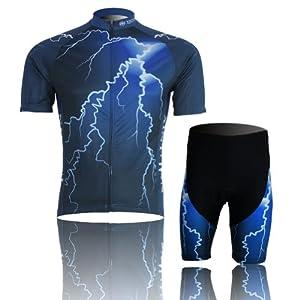 Buy Baleaf Mens Short Sleeve Cycling Jersey Thunder Style by Baleaf