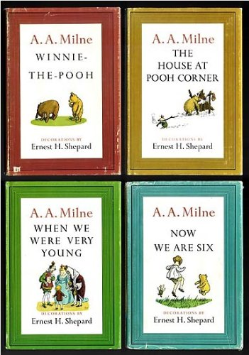 Winnie-the-Pooh's Library: Winnie-the-Pooh / The House at Pooh Corner / When We Were Very Young / Now We Are Six (4 book set), A. A. Milne