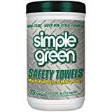 Simple Green 13351 Citrus Scented Safety Towels, 10 x 11 3/4 (6 Canisters of 74)