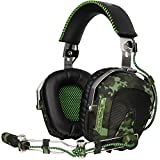 Sades SA926 Gaming Headset Stereo Wired Over Ear Headphones with Microphone for PC/PS3/PS4/Xbox One/Xbox 360/Phone/Mac/Laptop by EMMETTS (Color: Camo, Tamaño: SA926T)