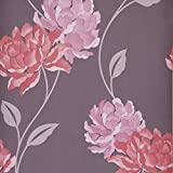 Dulux Feature Wallpaper - Easy Hang - Peony - Damson - 30-017