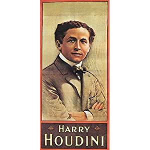 Great Harry Houdini Magic Magician Vintage Poster Reprint 18x24