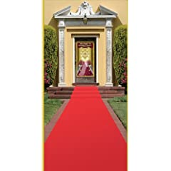Beistle 50087 Red Carpet Runner, 24-Inch by 15-Feet