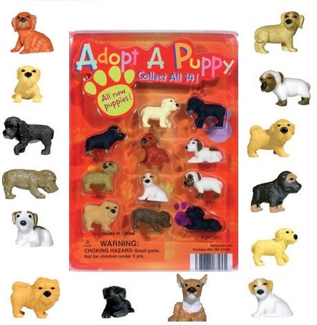 Adopt a Puppy Figures Series 2 - Set of 14 Vending Machine Toys (Vending Machine Puppies compare prices)