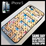 Generic Cover for iPhone 5/5G Special Scrabble Puzzle Board Game Phone Case 6092 - Black