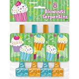Cupcake Party Blowers, 8ct