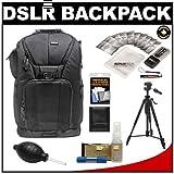 Vivitar Series One Digital SLR Camera Laptop Sling Backpack - Medium (Black) Holds Most 15.4'