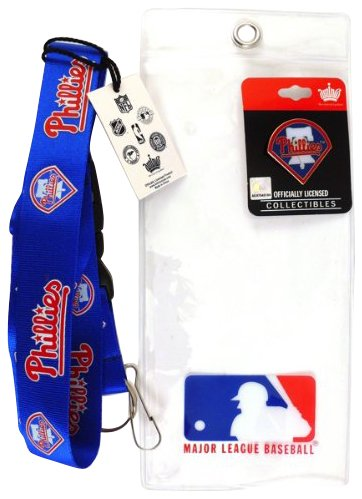 Philadelphia Phillies Lanyard with Ticket Holder and Logo Pin at Amazon.com