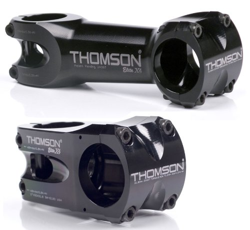 Thomson X4 31.8 Bicycle Stem (1-1/8 x 0-Degree x 50mm, Black)
