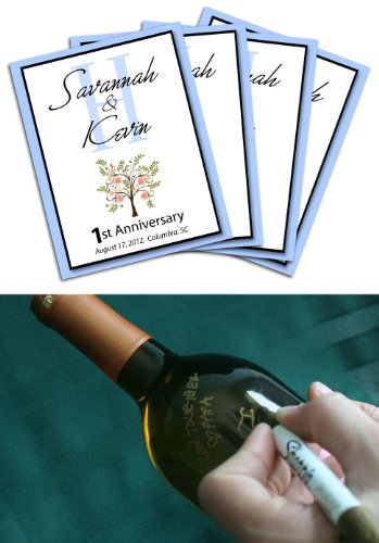 Wine Labels Wedding Guest Book - Wine Labels - Wine Labels Wedding Spring Wedding Wine Label Guest Book, Guestbook Wine Labels front-221459