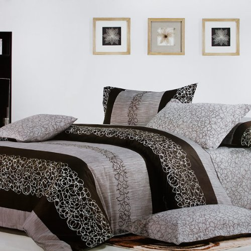 Blancho Bedding - [Charming Garret] 100% Cotton 4PC Comforter Cover/Duvet Cover Combo (Queen Size)