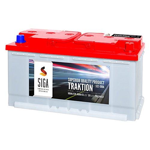 SIGA-TRAKTION-PZS-12V-100Ah-Batterie-Antrieb-Stapler-Hubwagen-Hebebhne-Panzerplatte-Solar-Batterie