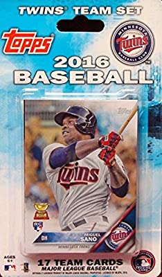Minnesota Twins 2016 Topps Factory Sealed Special Edition 17 Card Team Set with Joe Mauer and Miguel Sano Plus