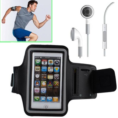 Eeekit 2-In-1 For Ipone5S, Iphone5C, Iphone5, (For Fitness Apps Such As Runmeter/ Runkeeper/ Keep Running/ Mapmyrun/ Endomondo/ Zombies,Run/ Nike+Running), Sports Running Armband Case Holder + Universal Earphone W/Mic