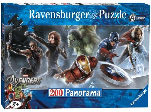 Ravensburger - 12714 6 - Puzzle 200 Pezzi Panorama Avengers