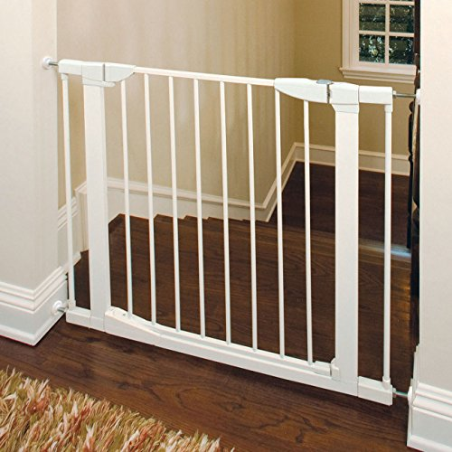 New Munchkin Auto Close Metal Gate White Kid Children Pet