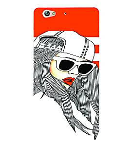 PrintVisa Stylish Cool Girl Fashion Cool 3D Hard Polycarbonate Designer Back Case Cover for Gionee S6
