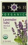 Stash Tea Organic Lavender Tulsi Herbal 18 Count Box (Pack of 6)