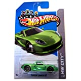 Hot Wheels 2013-004 HW City Porsche Carrera GT GREEN 1:64 Scale