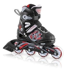 Rollerblade Bladerunner 13 Phaser Kid's Skate, Black/Red, US Kids 1 to 4 Adjustable Size
