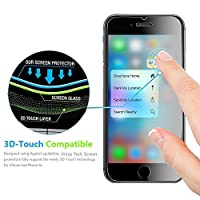 (2 Pack) iPhone 6 Screen Protector, Vinso Tech [3D Touch Compatible] Ultra Thin Glass Screen Protector Works with iPhone 6 6S and Most Protective Cases from Vinso Tech