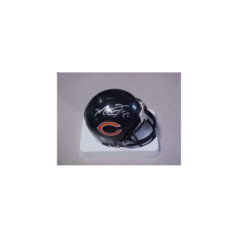 Hand Signed Autographed Chicago Bears Riddell Football Mini Helmet