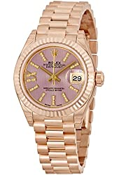Rolex Lady Datejust Lilac Dial Diamond 18K Everose Gold Automatic Watch 279178LIRSDP