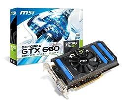MSI NVIDIA GeForce GTX 660, 2GB GDDR5, PCI Express 3.0 Graphics Card N660-2GD5/OC