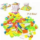 #9: Ps Retail 144Pcs/Set Plastic Building Bricks Kids Modeling Building Bricks Block Toy