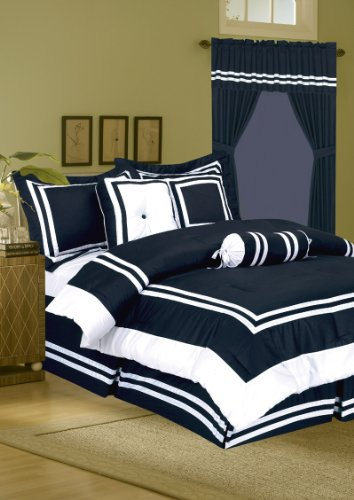 7Pcs Full Hotel Collection Block Duvet Cover