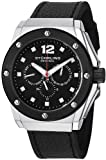 Stuhrling Original Mens 469.33151 Special Reserve Apocalypse Midnight Quartz Multi-Function Black Leather Strap Watch